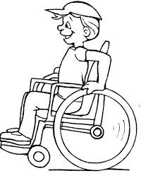 The Children Disabilities Coloring Page