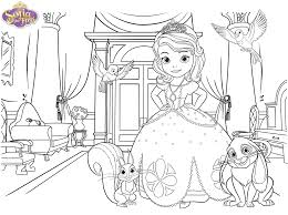 Disney Jr Halloween Coloring Pages by Sofia The First Coloring Pages Coloring Home