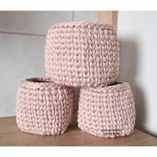 utensilo korb 3 stück set textilgarn körbchen häkelkorb aufbewahrungskorb bad körbchen schminkkorb badezimmer deko set