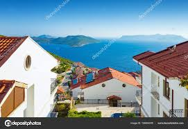 100 Beautiful White Houses White Houses With Amazing Sea View Stock Photo