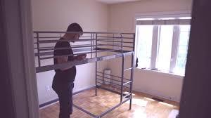 Ikea Stora Loft Bed by Ikea Svarta Loft Bed Assembly Youtube