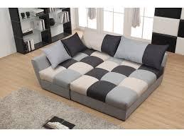 canap en angle canapé angle convertible en tissu gris ou chocolat romane