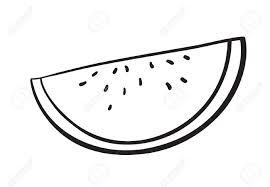 Detalied Illustration Watermelon Slice White Background