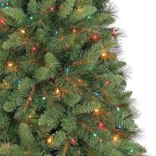 Balsam Christmas Trees Uk by 6 5 Ft Crestwood Pine Pvc Christmas Tree With Clear Or Multicolor