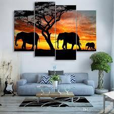 großhandel 4 stücke high definition drucken afrikanische landschaft leinwand ölgemälde poster und wandkunst wohnzimmer bild chc1103 14 86 auf