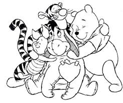 Cute Cartoon Friends Pooh Tiger Piglet And Eeyore Coloring Sheets Pages Printable