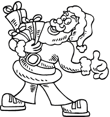 Free Santa Claus Coloring Page
