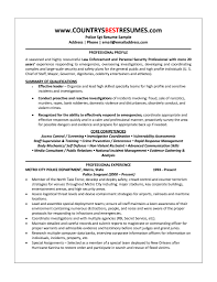 Police Officer Resume Objective Statement