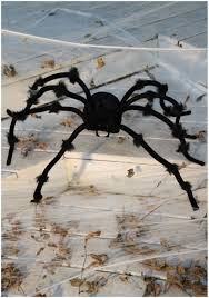 Animatronic Halloween Props Uk by Black 50 Inch Posable Spider Spider Halloween Decorations