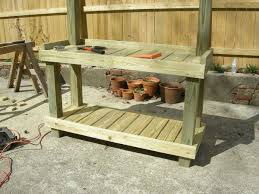Shed Bench by Garden Work Bench Diy Home Outdoor Decoration