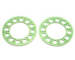 100 Holey Trucks Axial Rollers Beadlock Rings Green 2 AXI8019 Cars