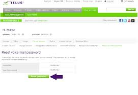 How to reset your voicemail password cellular TELUS Neighbourhood