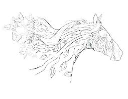 Free Horse Coloring Pages With Realistic Jumping Stunning H For Frame Amazing