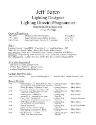 Lighting Engineer Sample Resume Designer Mechanical