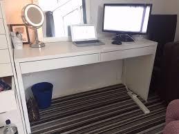 Ikea Micke Desk Assembly by Ikea Micke Desk White Like New Bargain 142x50cm In Lace