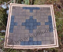 Leather Board With Size 20 X Cm Tafl Games Are Ancient Germanic And Celtic