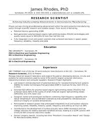 Computer Science Resume Canada Research Scientist Sample Monster