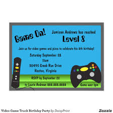 Video Game Truck Birthday Party 4.5x6.25 Paper Invitation Card ... Video Game Party Invitations Gangcraftnet Invitation On K1069 The Polka Dot Press Monster Truck Birthday Ideas All Wording For Save Gamers Fun Birthdays Planning A 13yr Old Boys Todays Pitfire Pizza Make One Amazing Discount Unique Dump Festooning And Printable Orderecigsjuiceinfo Star Wars Signs New Designs Invitations Fancy Football