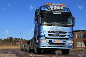 PAIMIO, FINLAND - MARCH 8, 2014: Mercedes-Benz Actros V8 Truck ...