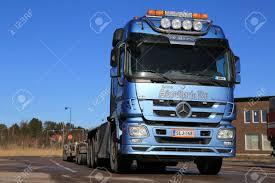 PAIMIO, FINLAND - MARCH 8, 2014: Mercedes-Benz Actros V8 Truck ...