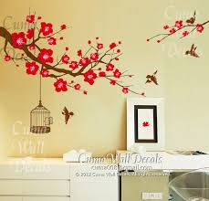 Wall Decal Nature Flower Birds Z157 Cuma