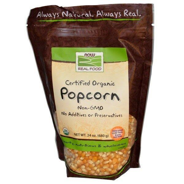 Now Foods Certified Organic Popcorn - 24 oz pouch