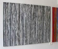 details zu gemälde acryl leinwand painting stripes handgemalt bunt streifen wohnzimmer