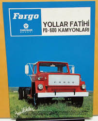1973 Chrysler Sanayi Fargo Truck PD-600 Foreign Dealer Brochure ...