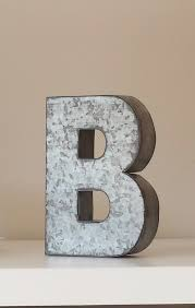 3 LARGE METAL LETTER Zinc Steel Initial Home Room Decor Diy Signs Letter Glitter Vintage Style