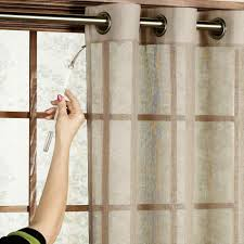 french door window treatments sliding glass curtain white shade