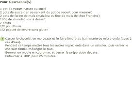 recette de cuisine gateau recette gâteau au yaourt au chocolat sans gluten facile et rapide