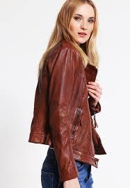 be edgy jacket be edgy celina leather jacket cognac women
