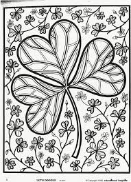 Patricks Day Shamrock Coloring Page Free Educational Insights Printable From Lets Doodle Book