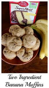 Pumpkin And Cake Mix Muffins Weight Watchers by Two Ingredient Banana Muffins Momcrieff