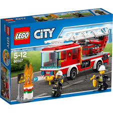 LEGO City: Fire Ladder Truck (60107) Toys | TheHut.com Lego City Fire Truck Free Transparent To The Rescue Level 1 Lego Itructions 60110 Station Book 3 60002 Sealed Misb Toys Games On Carousell Brigade Kids Amazoncom Scholastic Reader Ladder 60107 Engine Burning 60004 7239 Bricks Figurines City Airport With Two Minifigures And