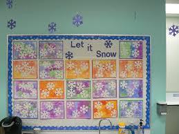 Mrs Ts First Grade Class Snowflake Art