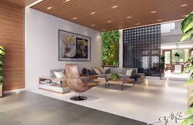 Modern Custom Home With Central Atrium And Interior Bamboo Garden