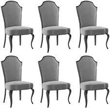 casa padrino luxus barock esszimmer stuhl set grau schwarz 55 x 53 x h 113 cm barock küchen stühle 6er set esszimmer möbel im barockstil
