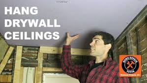 Hanging Drywall On Ceiling how to hang drywall ceilings by yourself 12 steps with pictures