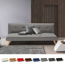 schlafcouch 2 sitzer mit schlaffunktion aus stoff wohnzimmer modern design larimar