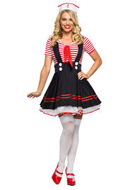 Womens Retro Sailor Girl Costume