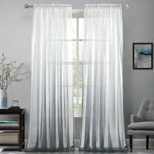 gardine voile farbverlauf transparent vorhang schlaf