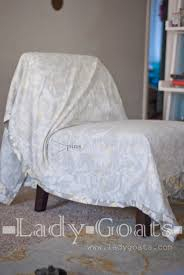 Lady Goats: DIY Slipper Chair Slipcover Without A Template Attractive Small Armchair Slipcover Chair T Cushion 2 Piece Coley White Linen Armless Cisco Brothers Seda With Swivel Essentials Collection And How To Dvd Giveaway Flexsteel Ding Room Side Ca60519 Matter Make Arm Slipcovers For Less Than 30 Howtos Details About Fniture Of America Bord Classic Chairs Set Muse Weathered Pepper Upholstered Parsons 2count Soothing Models With Wing Savile Washed Gray