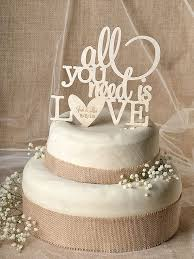 Rustic Cake Topper Wood All You By Forlovepolkadots
