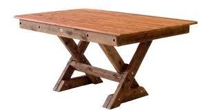 STM Rectangular Palm Beach Cypress Outdoor Timber Table Cross Leg