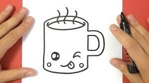 How To Draw A Cute Coffee Mug Hot Chocolate Cup And