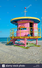 miami south deco lifeguard stand in south deco district miami