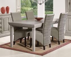 table à manger chêne gris allongeable contemporaine hcommehome