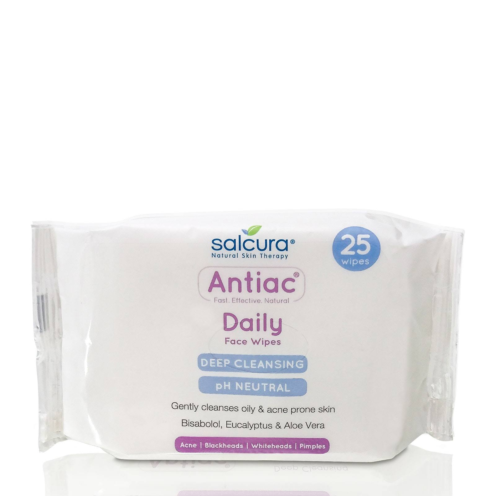 Salcura Antiac Daily Face Wipes - 25 Pack