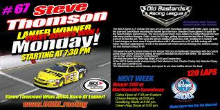 1 ARCA Series Lanier Winner (Steve Thomson) Poster - Old Bastards ...